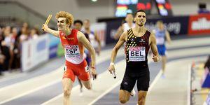 Bernat Erta entra a cinco centésimas del belga Kevin Borlée y da la plata al 4x400m español en Glasgow.