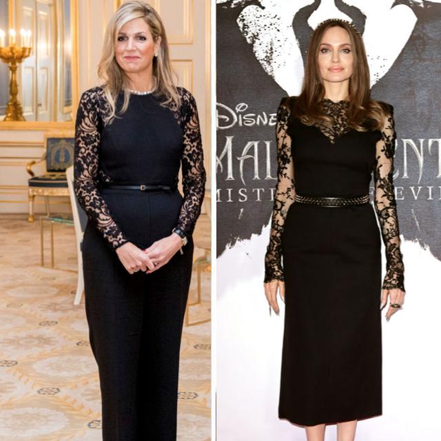 royals beroemdheden in dezelfde outfits