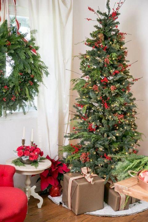 christmas tree decorations earthy