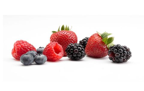 blueberries, strawberries, and raspberries