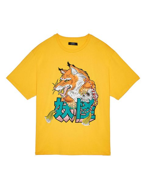 T-shirt, Clothing, White, Yellow, Product, Active shirt, Sleeve, Orange, Top, Font,