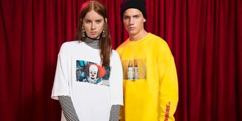 Bershka camisetas peliculas miedo años 80