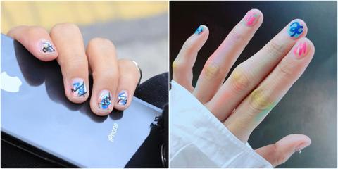 指甲彩繪,光療指甲,夏日指彩,俏皮,年輕,青春,塗鴉,街頭風,美甲,彩繪,光療,範例,beauty