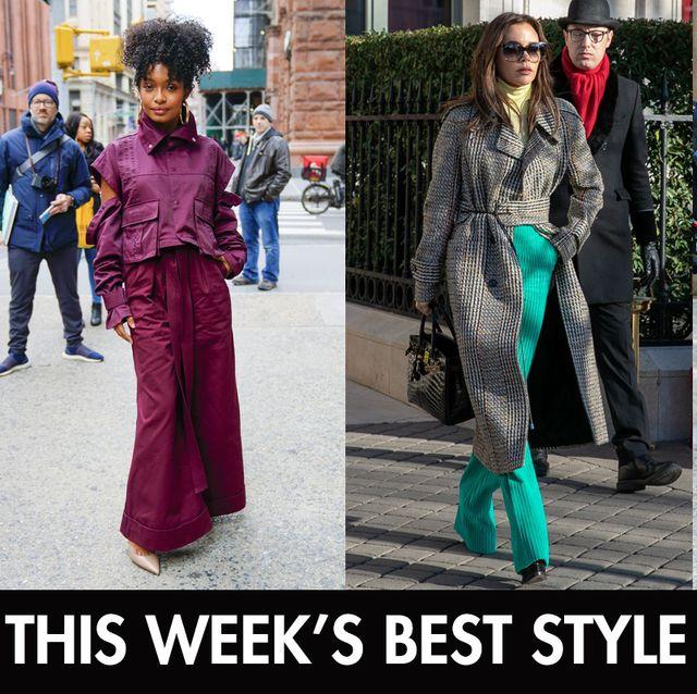 Street fashion, Clothing, Fashion, Purple, Outerwear, Textile, Jacket, Fashion design, Dress, Costume,