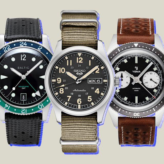 best analog watches baltic, seiko, yema