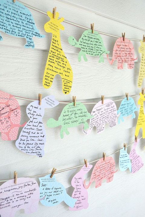 best baby shower ideas wishes clothesline