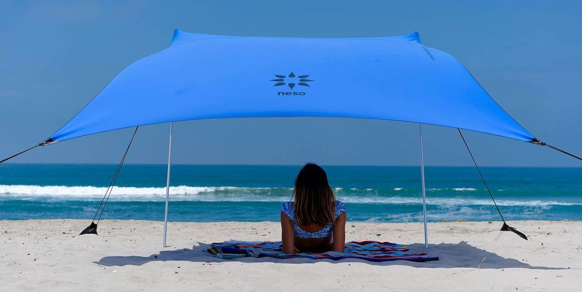 """Reviewers Say This Lightweight Beach Tent Works """"Even in the Wind"""""""