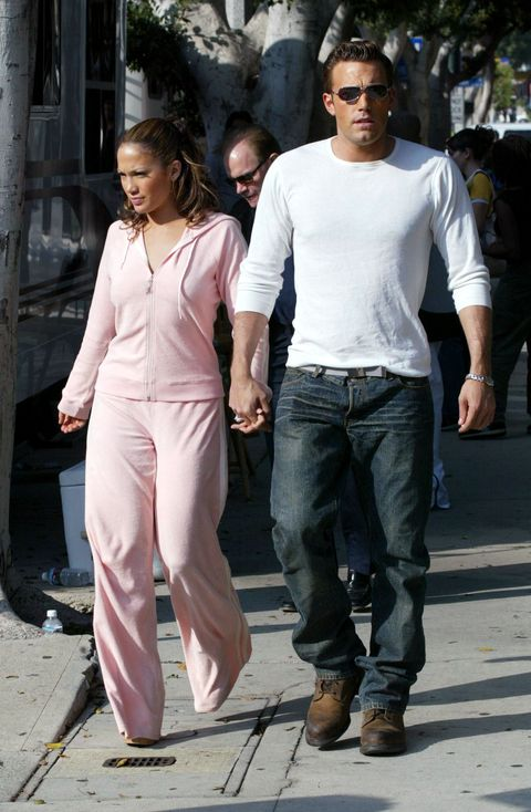 beverly hills, ca   october 20  actresssinger jennifer lopez and actor ben affleck hold hands while filming her new music video at barefoot restaurant on october 20, 2002 in beverly hills, california  photo by mel bouzadgetty images