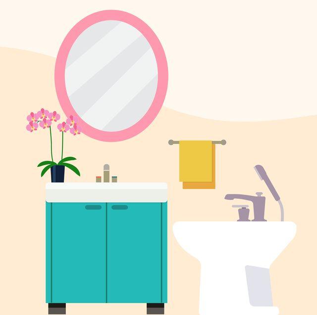 illustration of a bidet in a bathroom