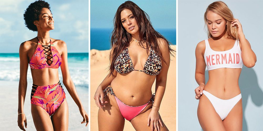 Curvy women bikini photographs