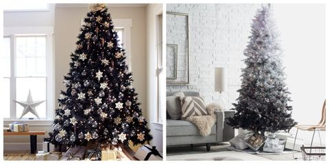 best black christmas tree ideas - Black And White Christmas Tree Decorations