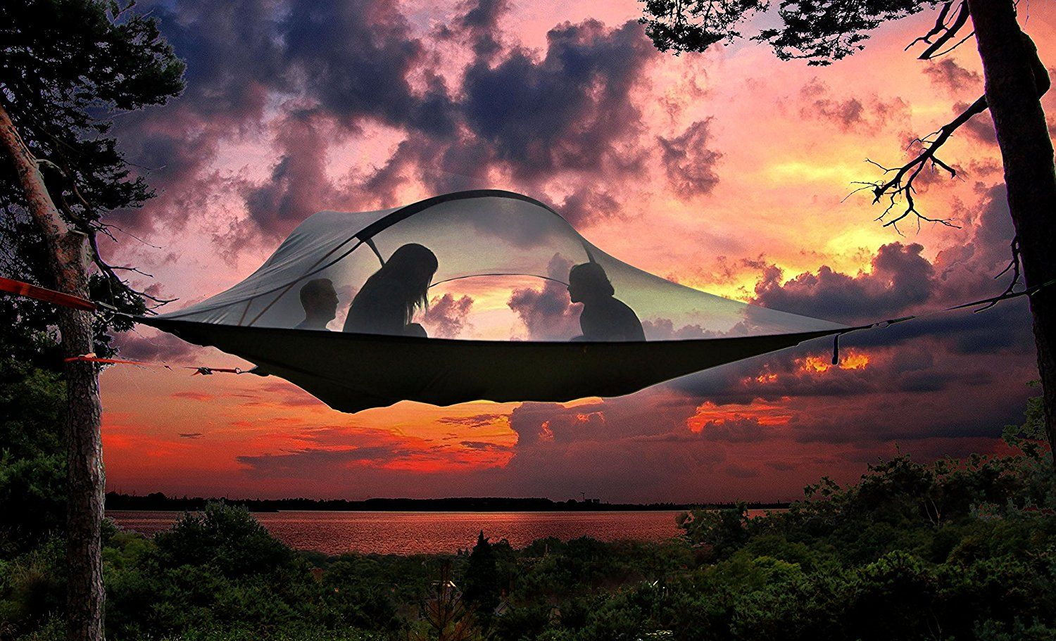 best camping tents - suspended tree tent