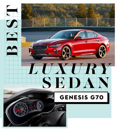 best car awards best luxury sedan   genesis g70
