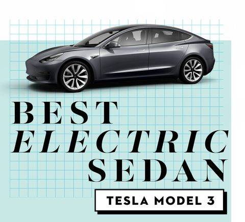 best car awards best electric sedan   tesla model 3
