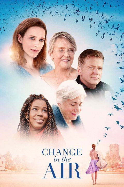 a movie poster for change in the air showing five characters from the movie