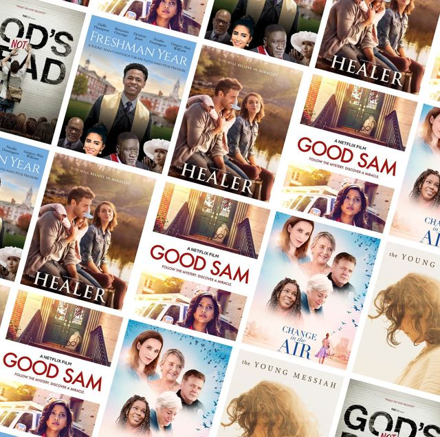 a roundup of best christian movies arranged in a collage