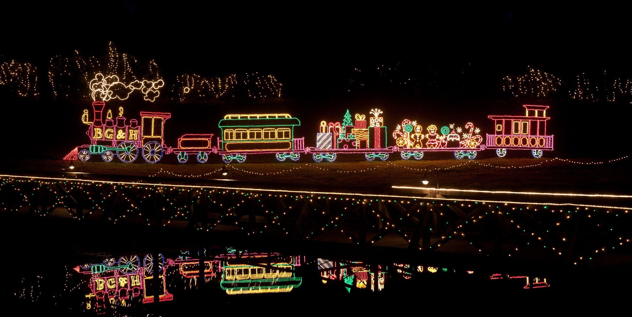 best christmas light displays bellingrath gardens alabama