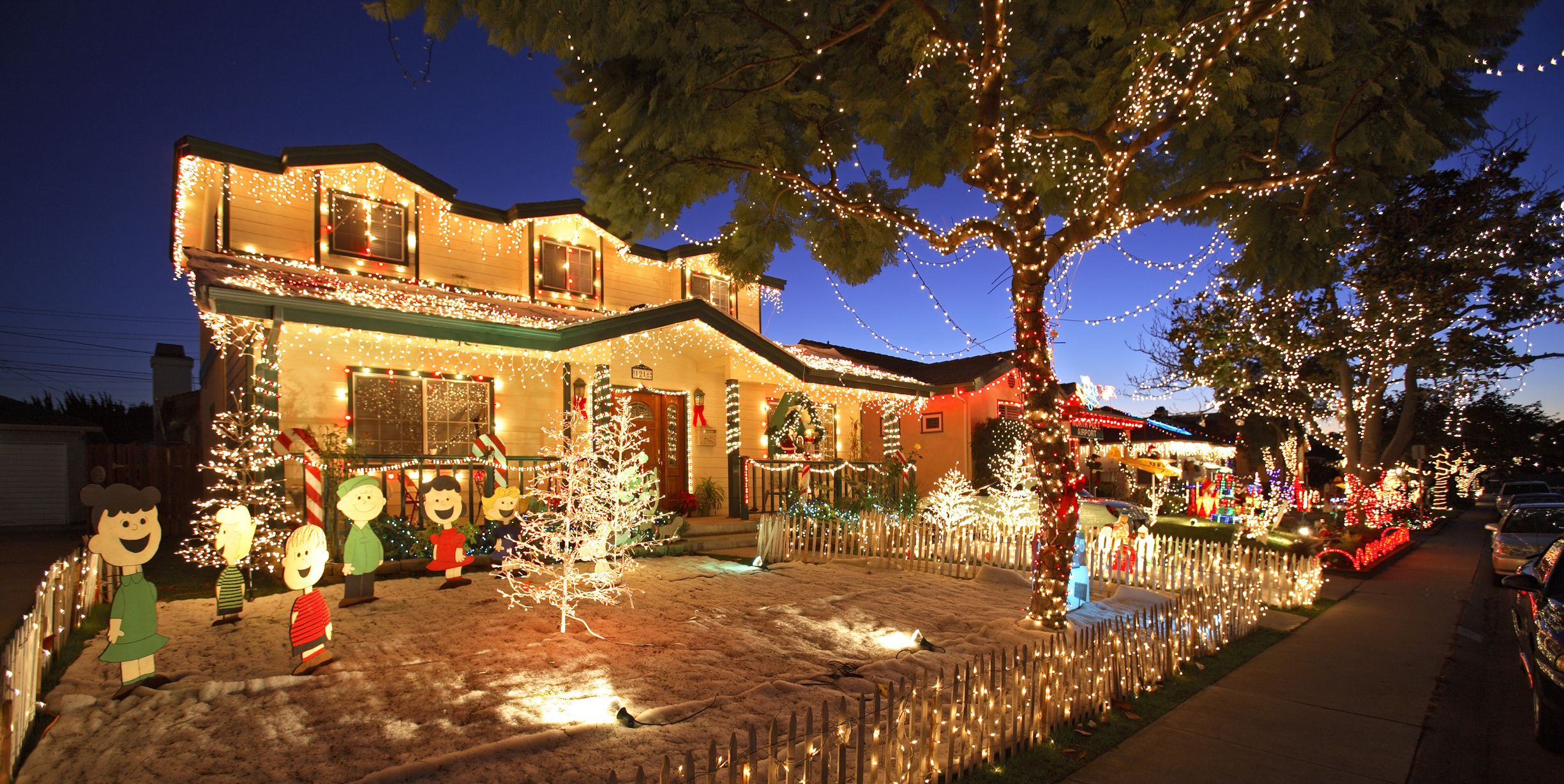 best christmas light displays woodland hills california candy cane lane