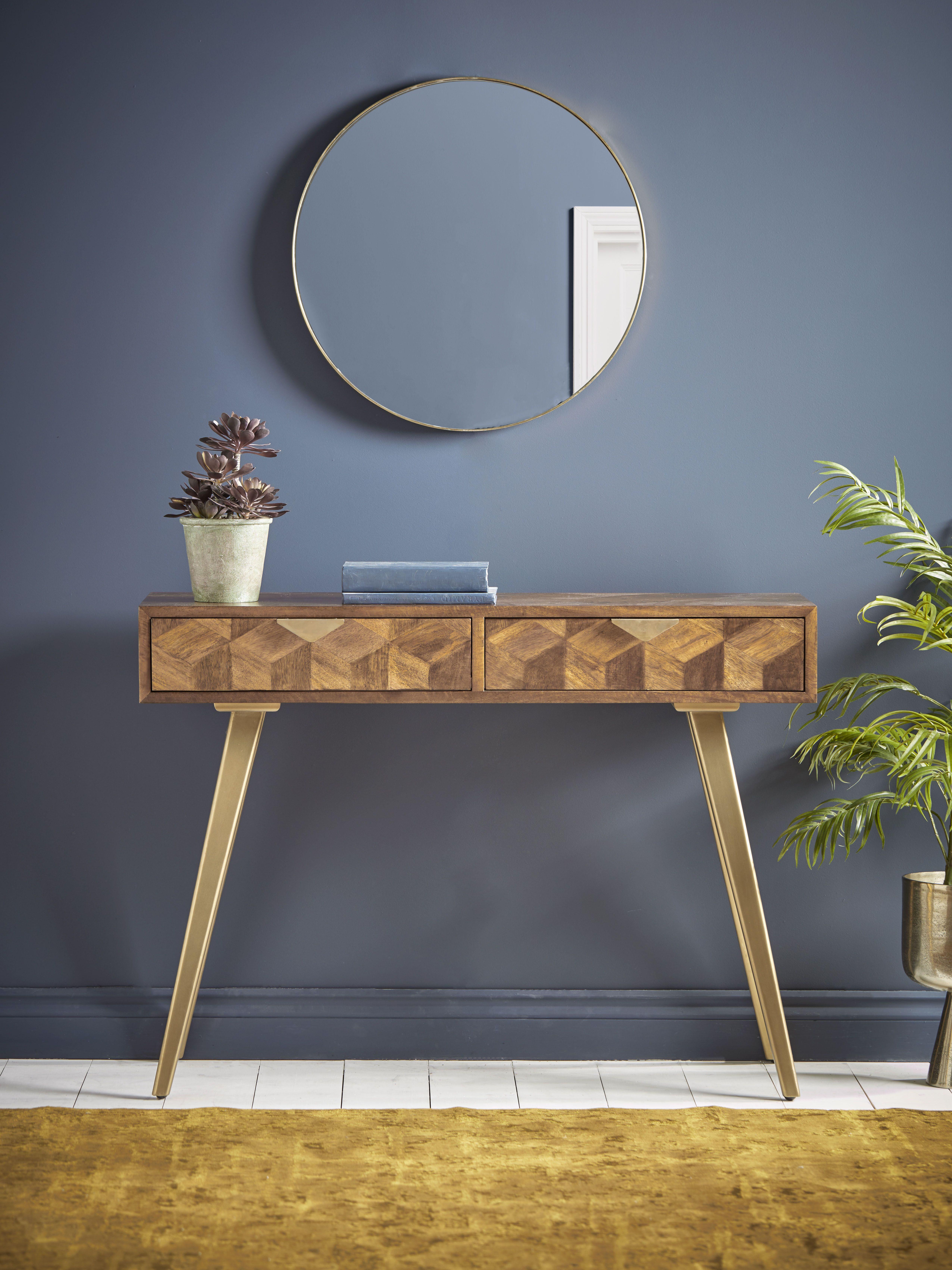 19 Console Tables For 2021 Perfect, Narrow Mirrored Side Table