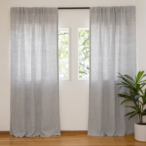 washed linen curtain parachute