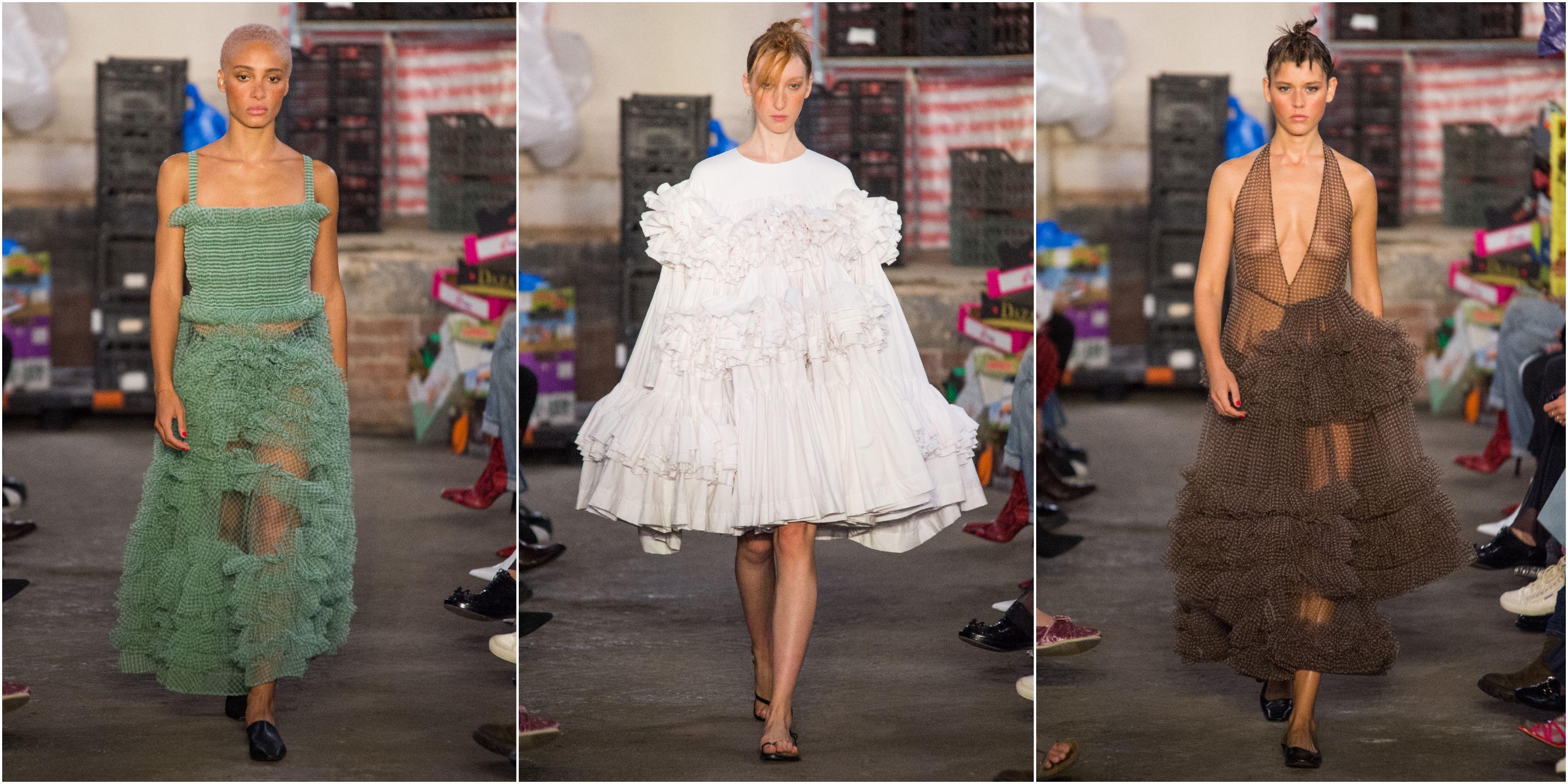 molly goddard lfw ss19 dresses