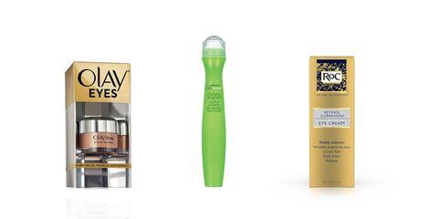 821ef19a47b Olay eye cream  Garnier eye roller  ROC anti-aging eye cream
