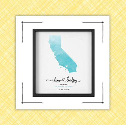 best engagement gifts framed print and picture frame
