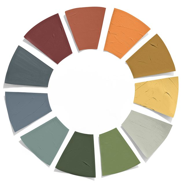 a paint palette of fall colors