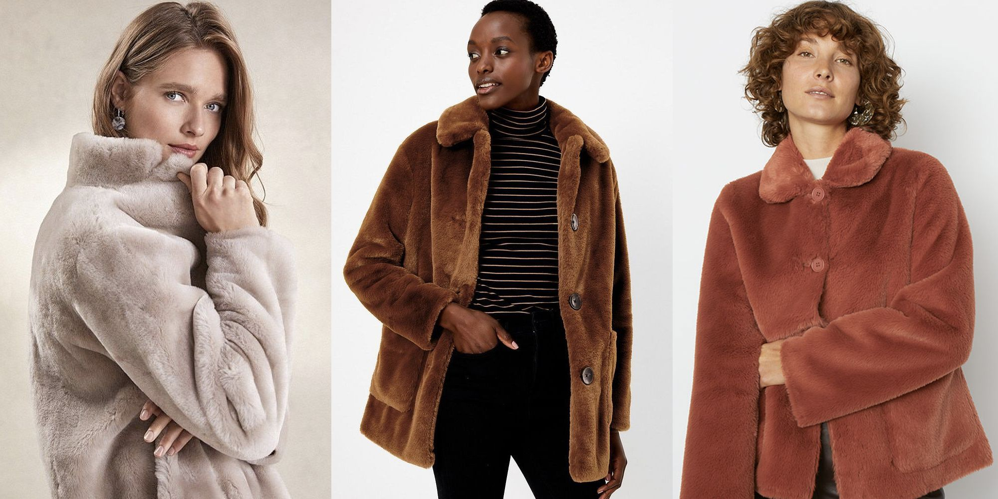 The most stylish faux fur coats on the high street