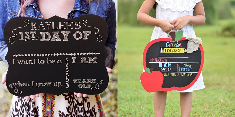 First Day Of School Signs For The Perfect Back To School Photo