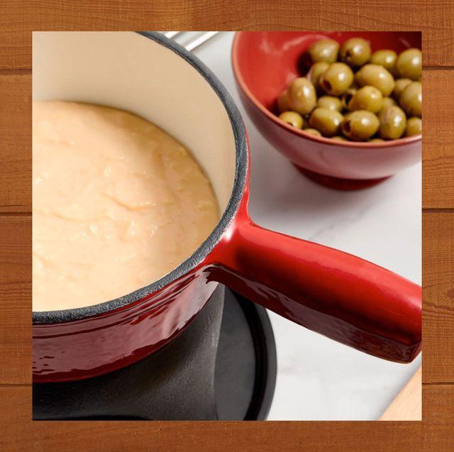best fondue pot vonshef swiss cast iron fondue set crate and barrel glass ceramic fondue set