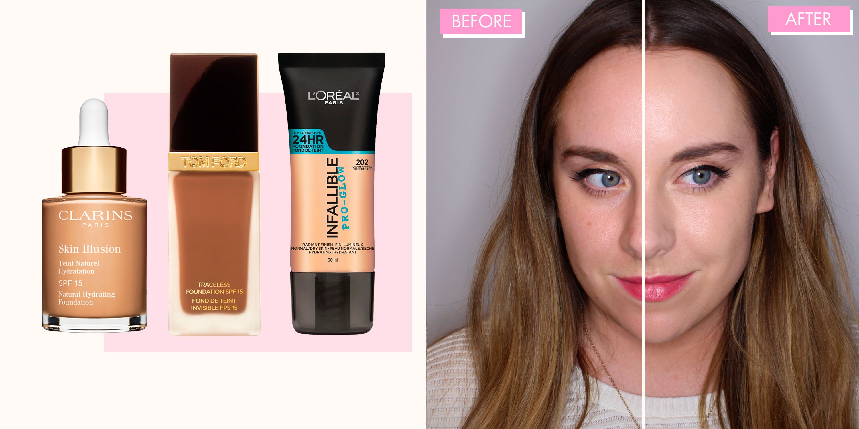 6 of the best foundations for dry skin, tested on half a face