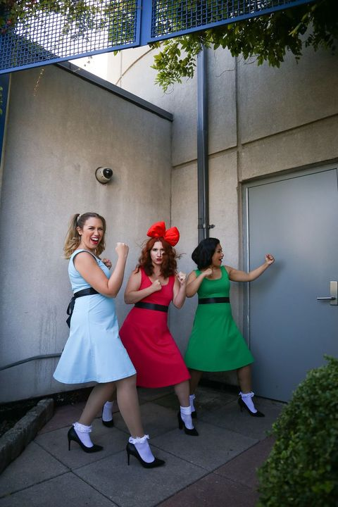 best friend halloween costumes powerpuff girls