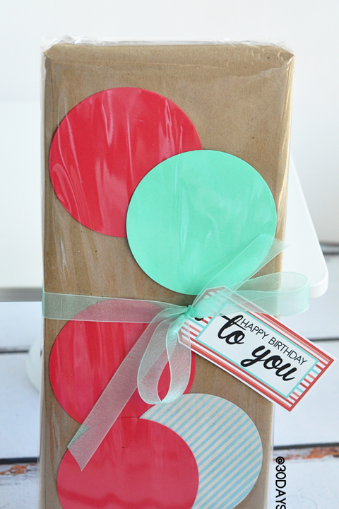best gift wrapping ideas polka dots