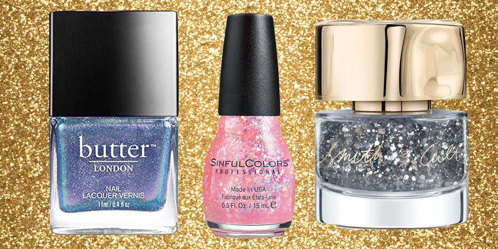 10 glitter nail polishes get glitter nails