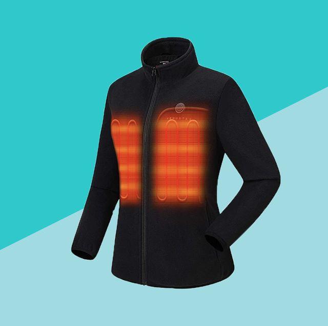 black heated jacket