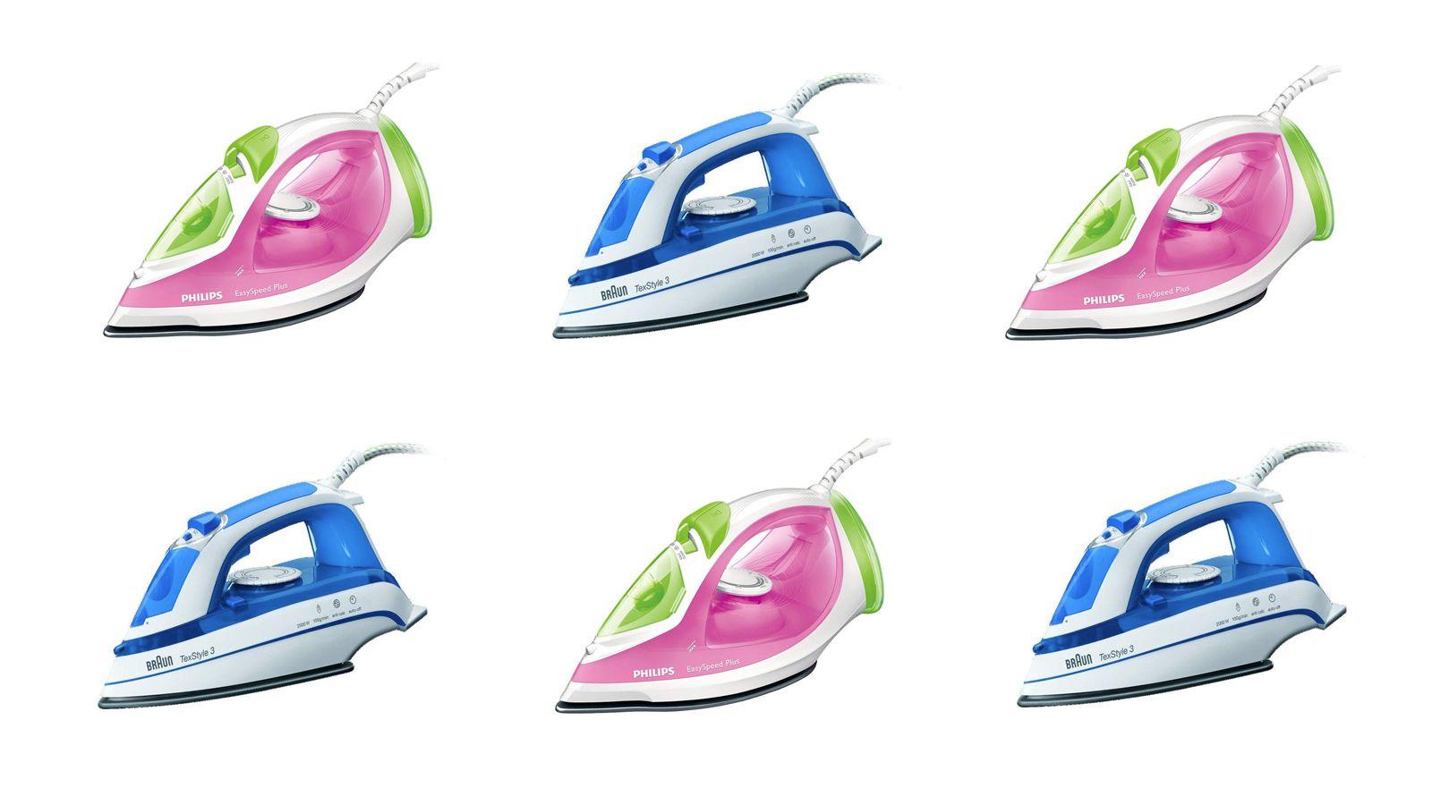 Hot mature  irons clothes