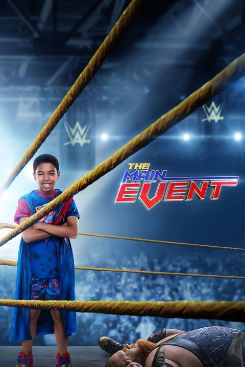 a brown skinned kid in a superhero costume is standing in a boxing ring