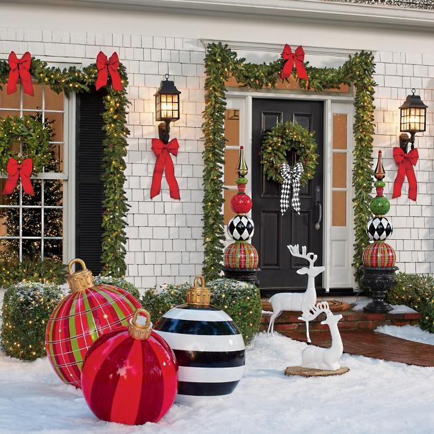 Best Large Outdoor Christmas Ornaments , Giant Holiday