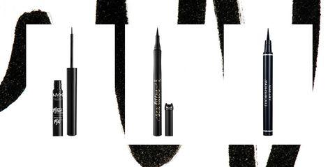 Cosmetics, Eye liner, Mascara, Brush,