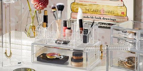 Product, Beauty, Cosmetics, Material property, Display case, Furniture, Lip gloss, Drawer, Glass, Nail care,