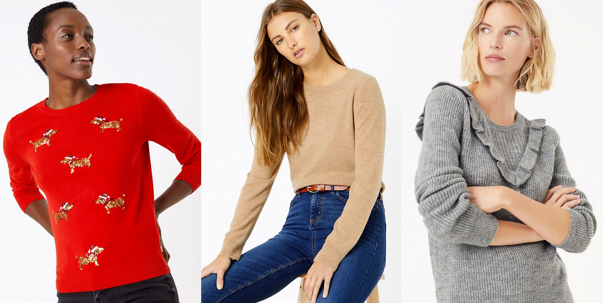 Ladies Cable Knitted V Neck Jumper Womens Chunky Top Long Sleeved Winter Fashion