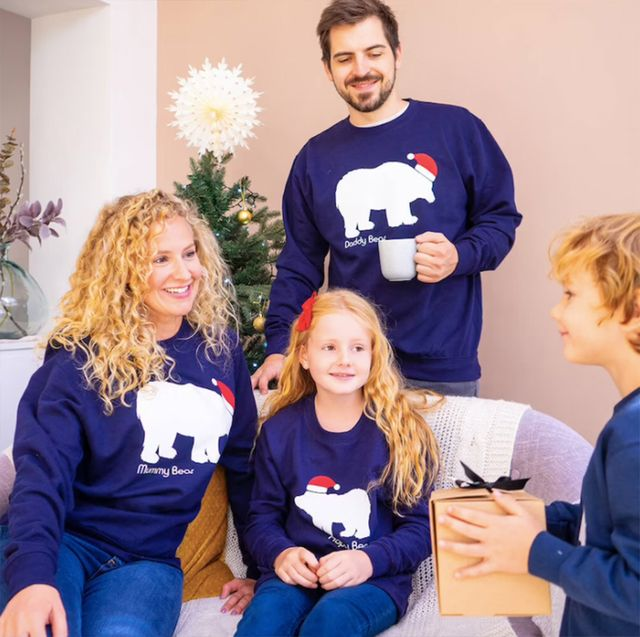 best matching family christmas jumpers