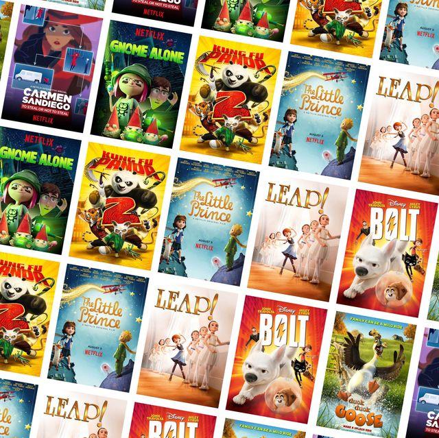 Best Animation Films on Netflix Collage