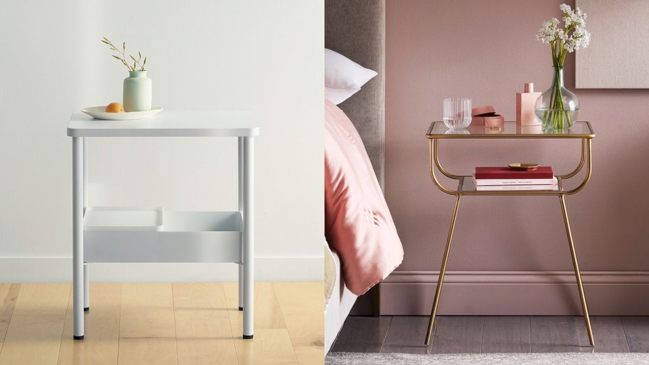 13 Small Bedside Tables For Tiny Bedrooms Best Nightstands For Small Spaces