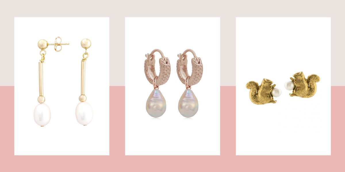 Stylish pearl earrings to shop now
