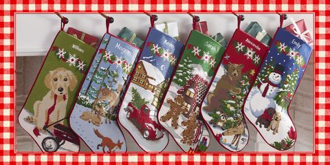 48514012826dc 40 Best Personalized Christmas Stockings - Unique Christmas Stocking ...