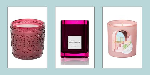 Pink, Tumbler, Highball glass, Cylinder, Drinkware, Material property, Candle, Glass, Tableware,