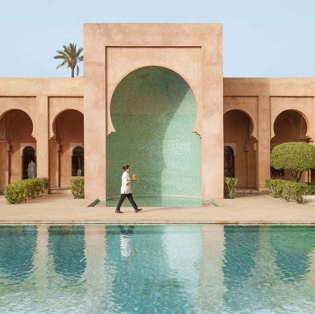 best pink hotels amanjena veranda