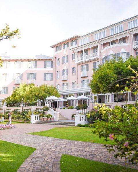 best pink hotels belmond mount nelson veranda
